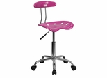 Vibrant Candy Heart & Chrome Computer Task Chair - LF-214-CANDYHEART-GG