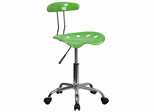 Vibrant Spicy Lime & Chrome Computer Task Chair - LF-214-SPICYLIME-GG