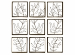 Vine Wall Decor Panels (Set of 9) - IMAX - 10628-9
