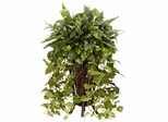 Vining Mixed Greens with Decorative Stand Silk Plant - Nearly Natural - 6674