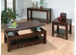 Vintner Merlot 3PC Cocktail, End and Sofa Table Set - 280-1