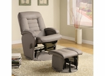 Vinyl Glider with Matching Ottoman - 600166