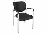 Visitor Chair(Set of 2) - Ultimate Side Chair with Arms - 3075BK-SET