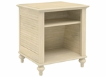 Volcano Dusk End Table with Storage in Driftwood Dreams - Kathy Ireland