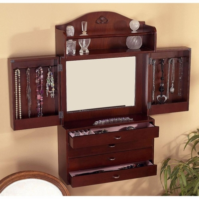 Wall-Mount Jewelry Armoire - Holly and Martin