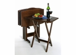 Walnut Rectangular Curved TV Table Set - Winsome Trading - 94517