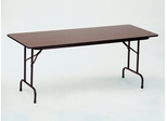 "Walnut Top High-Pressure 3/4"" Top Folding Table 18"" x 60"" - Correll Office Furniture - CF1860PX"