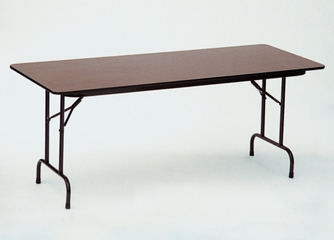 """Walnut Top High-Pressure 3/4"""" Top Folding Table 18"""" x 96"""" - Correll Office Furniture - CF1896PX"""