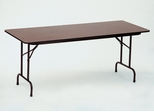 "Walnut Top High-Pressure 3/4"" Top Folding Table 30"" x 96"" - Correll Office Furniture - CF3096PX"