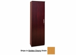 Wardrobe Cabinet with Left Hinge in Golden Cherry - Mayline Office Furniture - VWRDLGCH