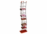 Wave 74 DVDs Tower Black With Cherry Wood - Atlantic - 1386