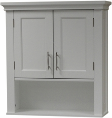 White Somerset Wall Cabinet with Mirrors