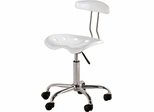 White Tractor Seat Task Chair
