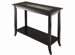 Winsome Genoa Rectangular Console Table with Glass and Shelf