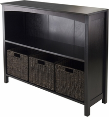 Winsome Trading 4pc Storage 3-Tier Shelf with 3 Small Baskets