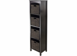 Winsome Trading 5pc Storage 5-Tier Shelf with 4 Small Baskets