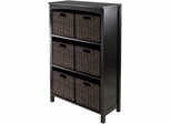 Winsome Trading 7pc Storage 4-Tier Shelf with 6 Small Baskets