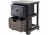Winsome Wood Casablanca Accent Table with Folding Basket