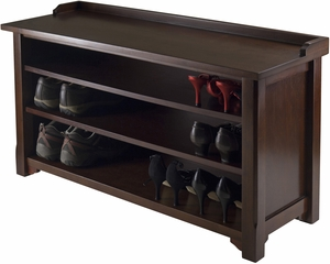 Winsome Wood Dayton Storage Hall Bench with Shelves