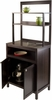 Winsome Wood Jamie Cabinet 2-Door with Hutch