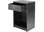 Winsome Wood Squamish Accent Table with One Drawer, Black Finish