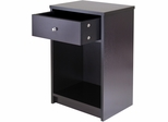 Winsome Wood Squamish Accent Table with One Drawer, Espresso Finish