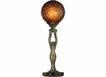 Woman With Ball Accent Lamp - Dale Tiffany