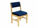 Wood and Fabric Chair - ROF-B61775-MOBE