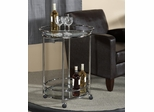 World Map Printing Serving Trolley - Powell Furniture - 942-280
