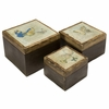 Worldly Butterfly Wood Boxes (Set of 3) - IMAX - 73058-3