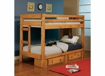 Wrangle Hill Twin Over Twin Bunk Bed - 460243