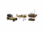 Wright Air Water and Land Transportation Models (Set of 3) - IMAX - 50885-3