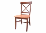 X-Back Chair with Solid Wood Seat (Set of 2) in Cinnamon / Espresso - C58-613P