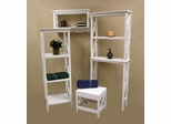 X-Frame Bathroom Furniture Set in White - RiverRidge - X-FRAME-WHITE-SET-1