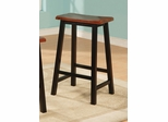 "Yates 29"" Oak and Black Wooden Bar Stool - Set of 2 - 180139N"