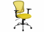 Yellow Mesh Executive Office Chair - H-8369F-YEL-GG