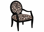 Zebra Oval Back Accent Chair - Powell Furniture - 502-936