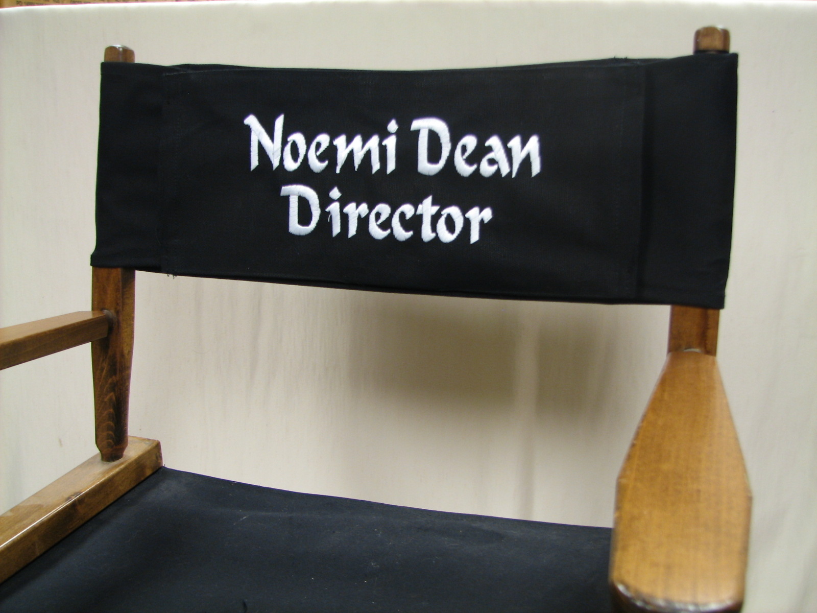 EMBROIDERED Replacement Canvas For Directors Chair (ROUND STICK) - Personalized Directors Chair ...