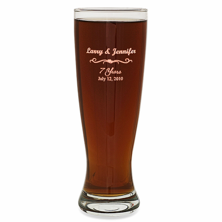 Anniversary Gift  22 Ounce Grand Pilsner Glass