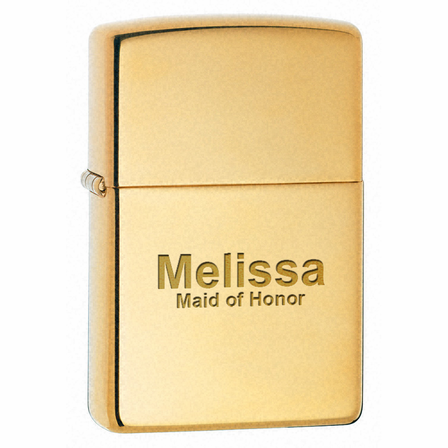 Armor High Polish Brass Zippo Lighter - ID# 169