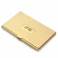 Brass Engraved Business Card Case