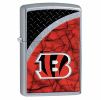 Cincinatti Bengals NFL Brushed Chrome Zippo Lighter - ID# 28585