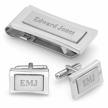 Colorado Collection Engraved Money Clip & Cufflinks Gift Set