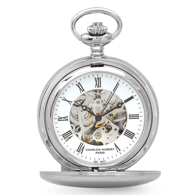 Dual Opening Pocket Watch Amp Chain Executive Gift Shoppe