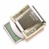 Engraved Smart Money Clip & Credit Card Holder
