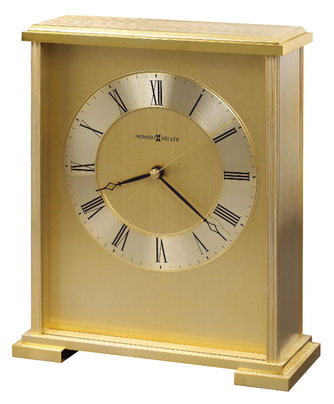 The Downing Street Executive Curio Desk: Exton Brass Carriage Clock By Howard Miller