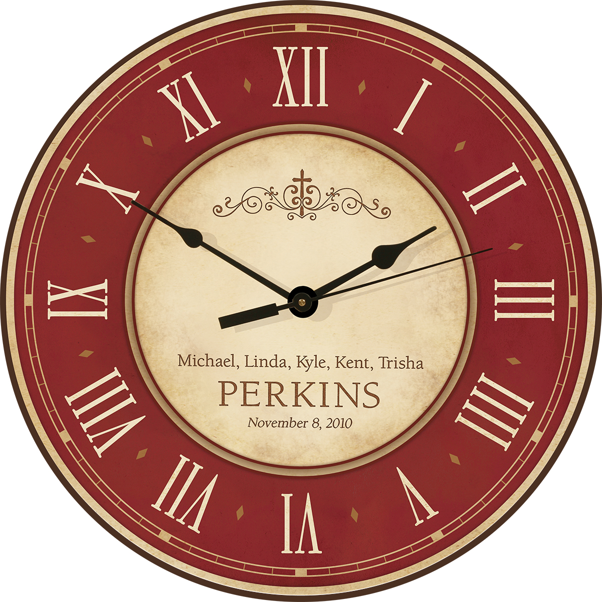 Family Personalized Wall Clock