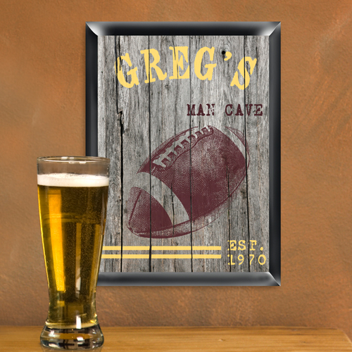 Football Man Cave Gifts : Football man cave sign free personalization executive