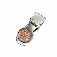 Golf Ball Engraved Money Clip In Silver