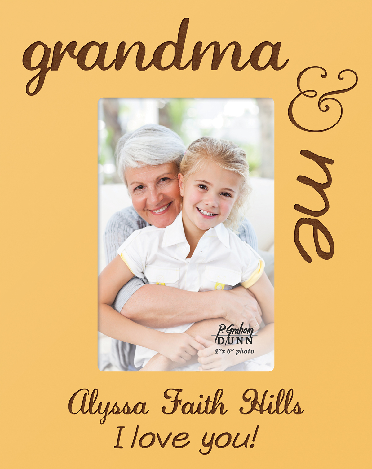 Grandma Amp Me Personalized 4 Quot X 6 Quot Picture Frame